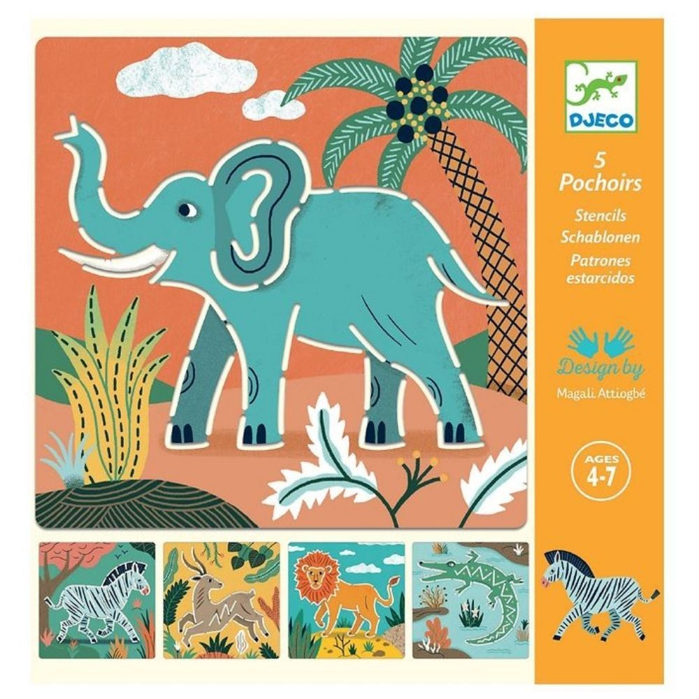 Djeco Stencils and Rubber Stamp Sets
