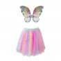 Great Pretenders - Rainbow Tutu with Sequin Wings and Wand (4-6 yrs)