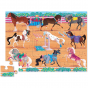 Crocodile Creek 36 pc Shaped Floor Puzzle - Horse Dreams