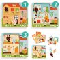 Djeco 3 Layer Puzzle Rabbit Cottage