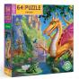 Eeboo Dragon 64 piece puzzle