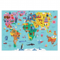 Mudpuppy 78 Piece Geography Puzzle - Map of the World