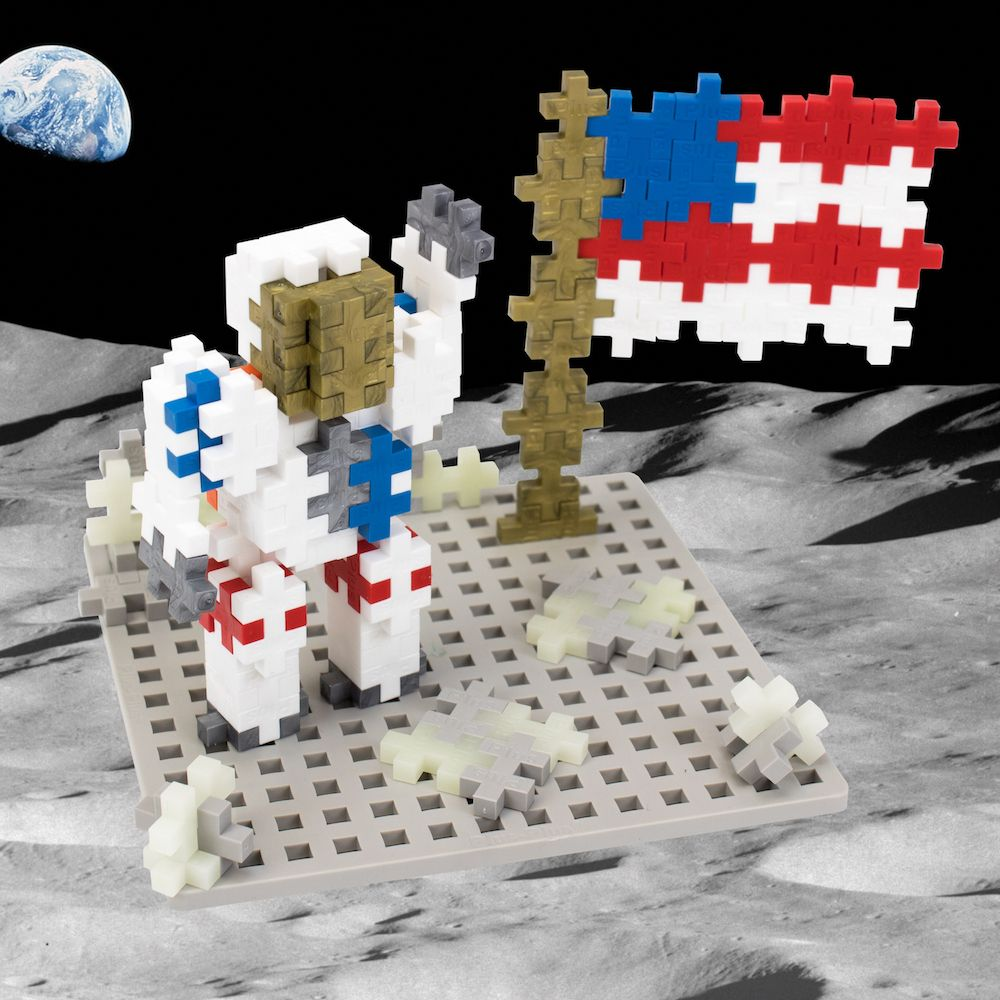 Plus-Plus Baseplate ideal for use with Apollo 11 Space Range
