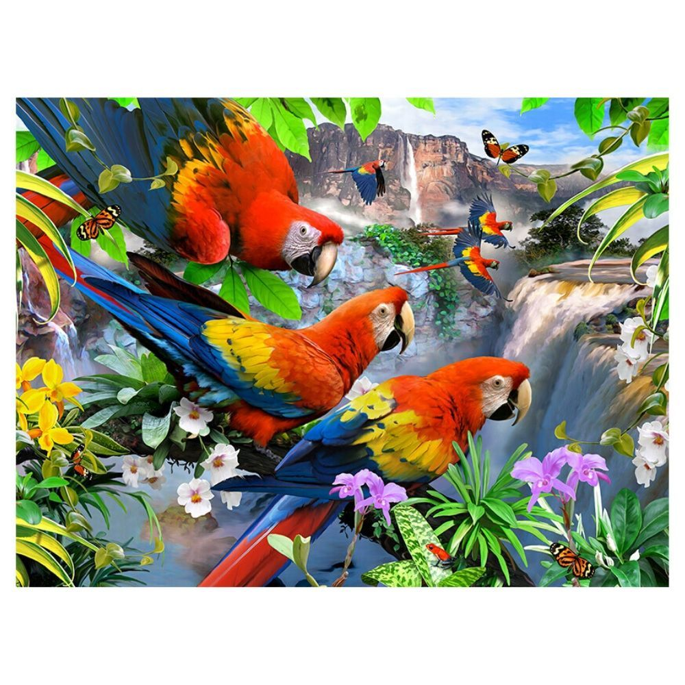 1000 piece Puzzle - Flight Of The Macaws - save 20%