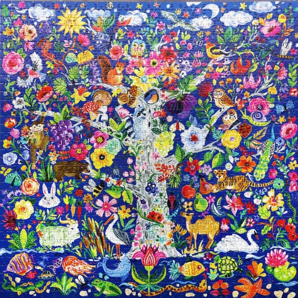 Eeboo Tree of Life 1000 + Piece Family Puzzle