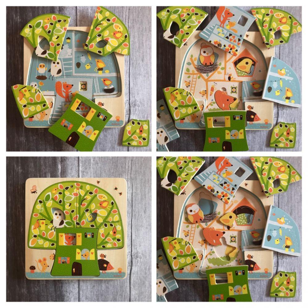 Djeco 3 Layer Puzzle Tree House
