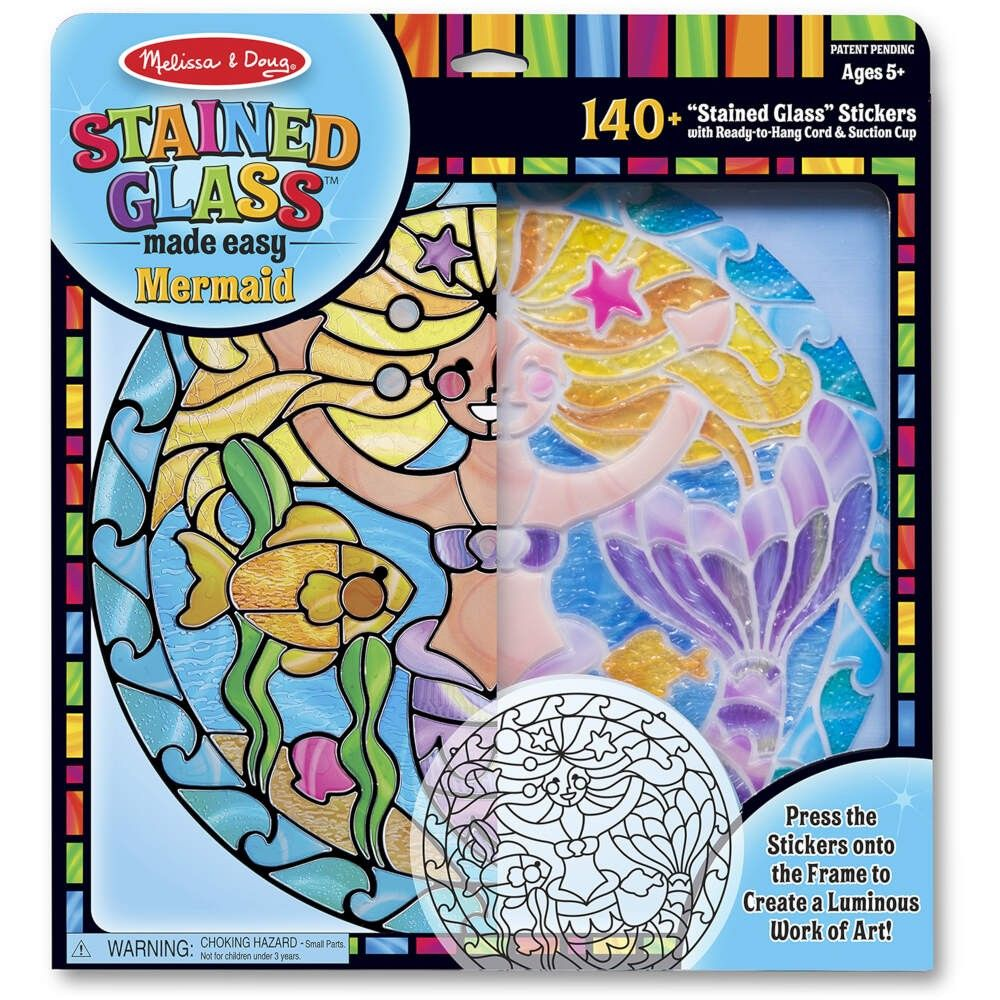 Melissa and Doug Stained Glass - Mermaid