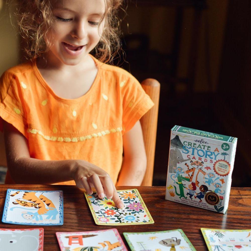 Eeboo Create A Story Cards - Volcano Island