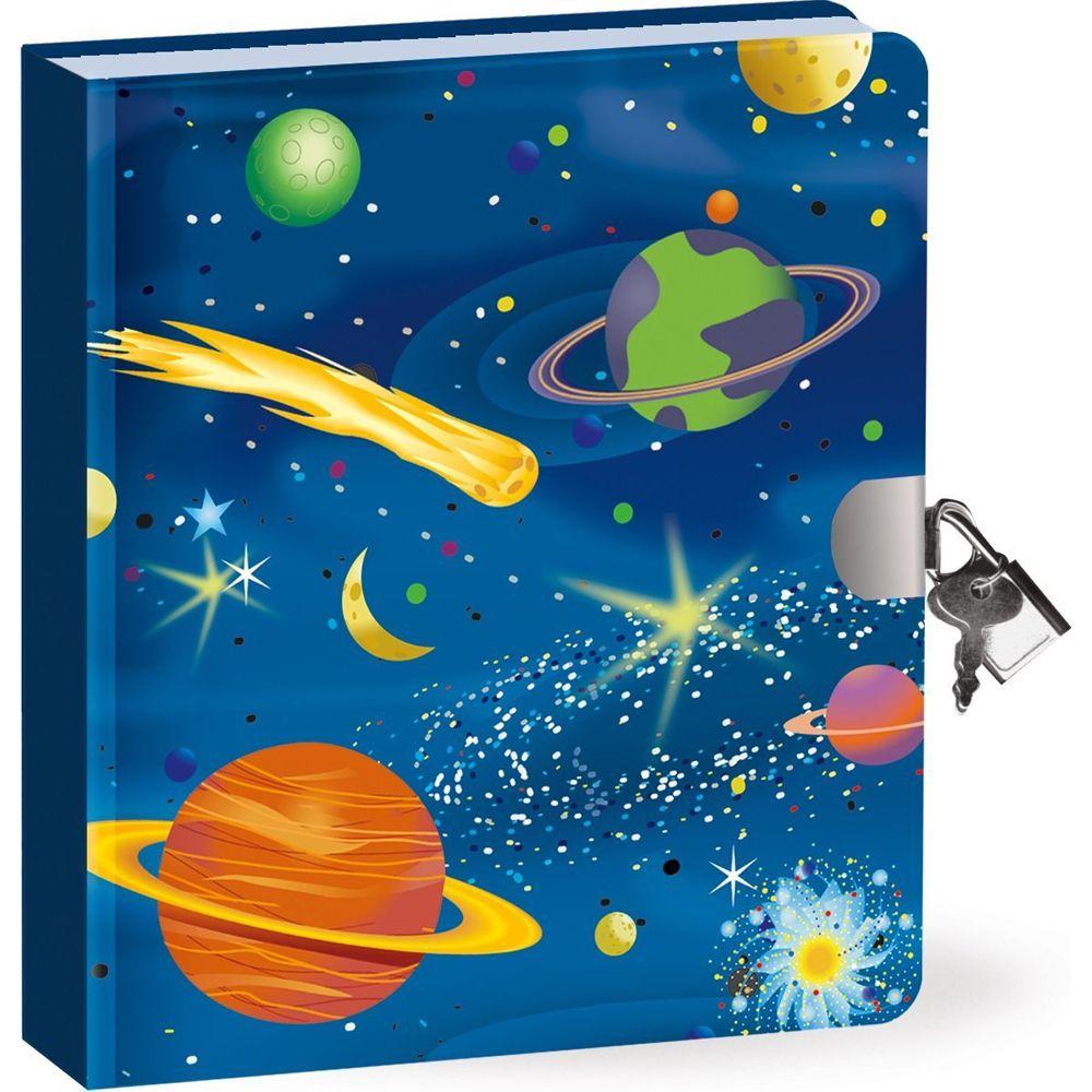 Peaceable Kingdom Deep Space Locked Diary