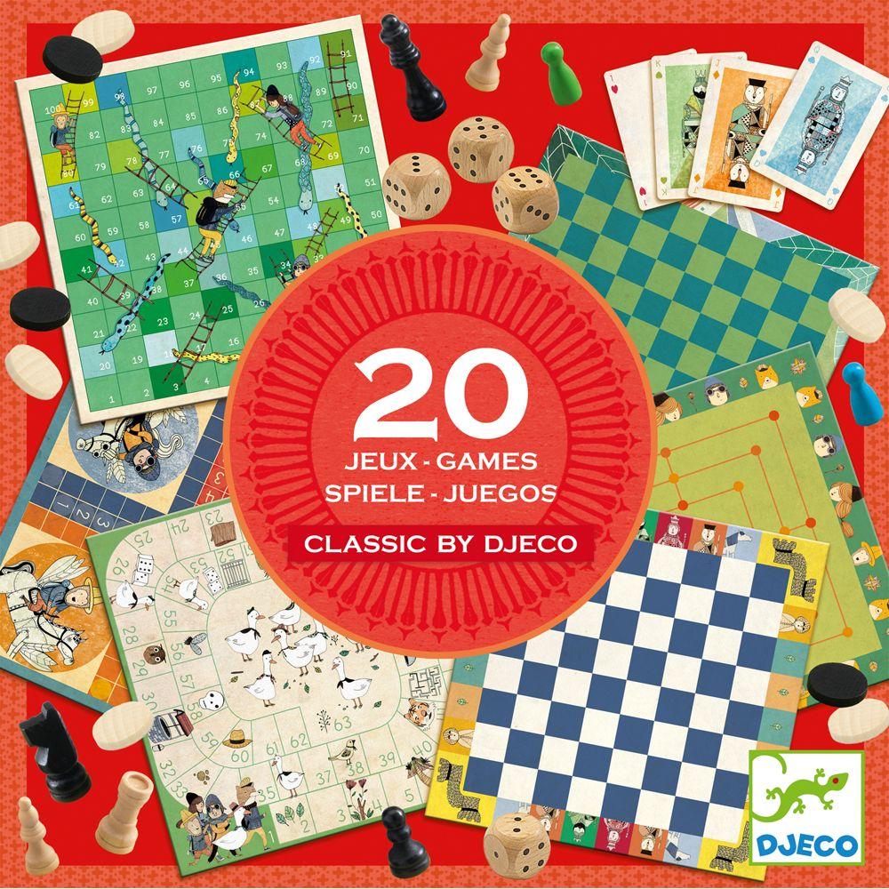 20 Classic Games - Djeco Toys