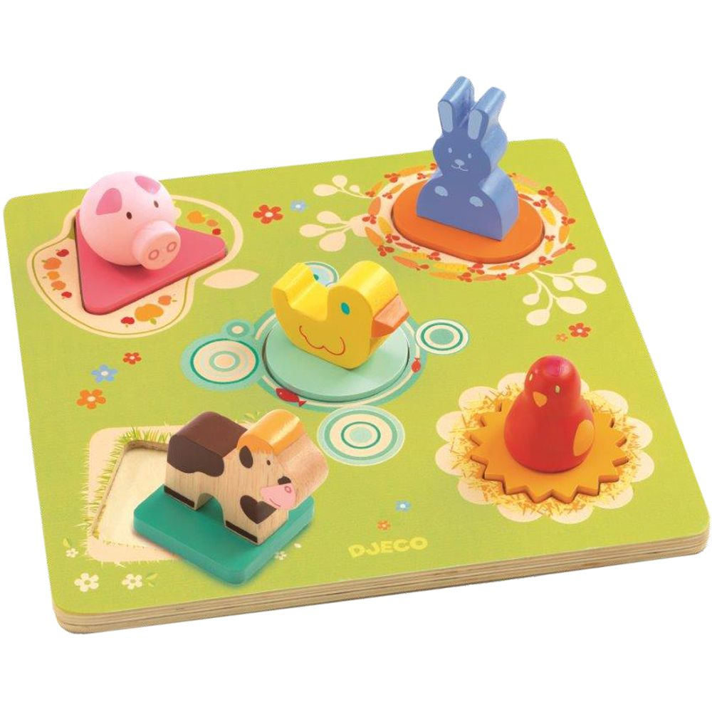 Djeco Wooden Puzzle Duck and Friends