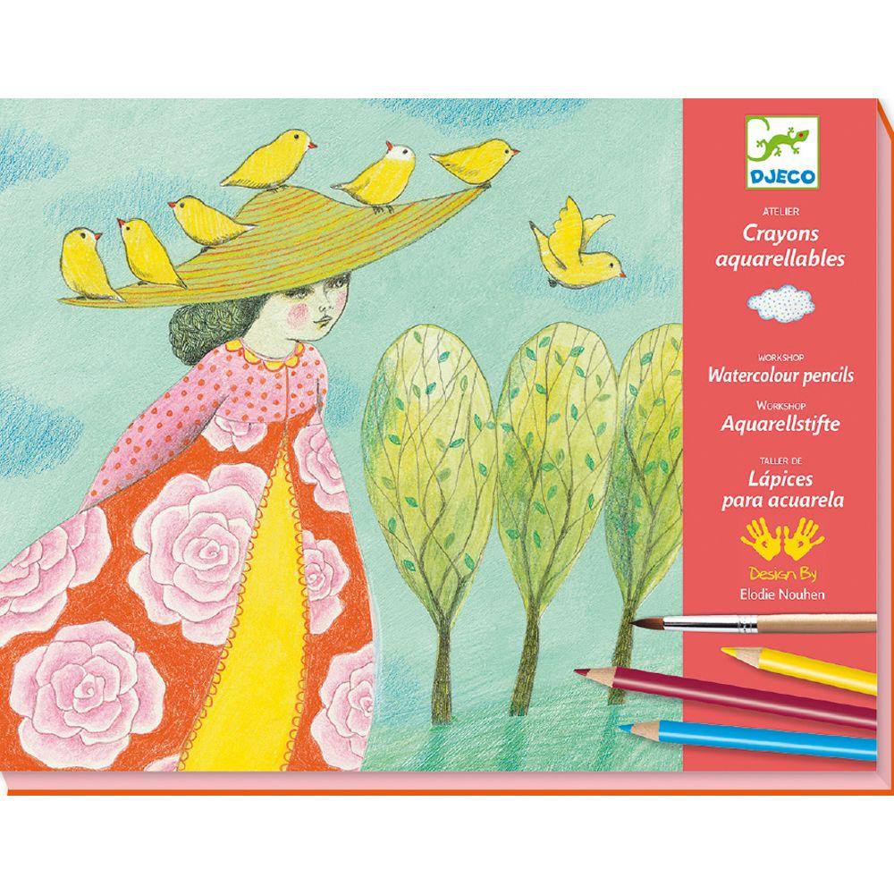 Djeco Watercolour Pencils Workshop - Close Calls