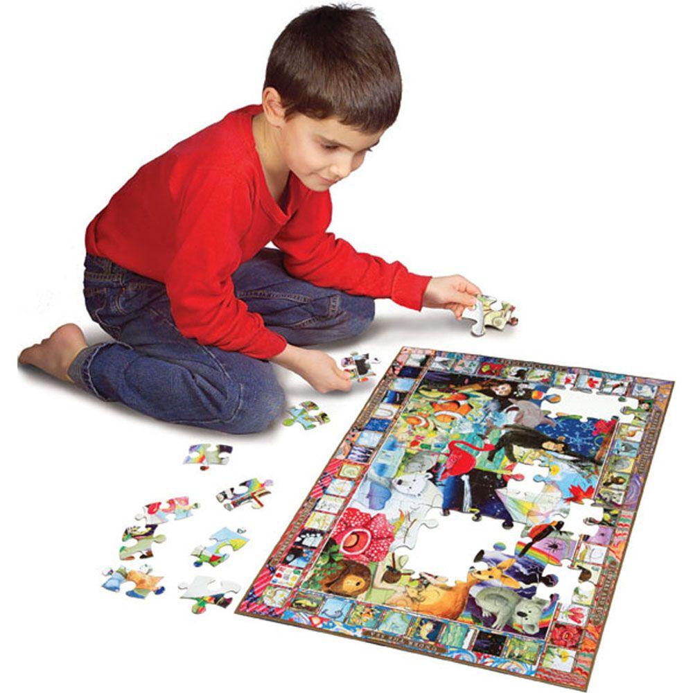 Eeboo Natural Science 100 piece puzzle