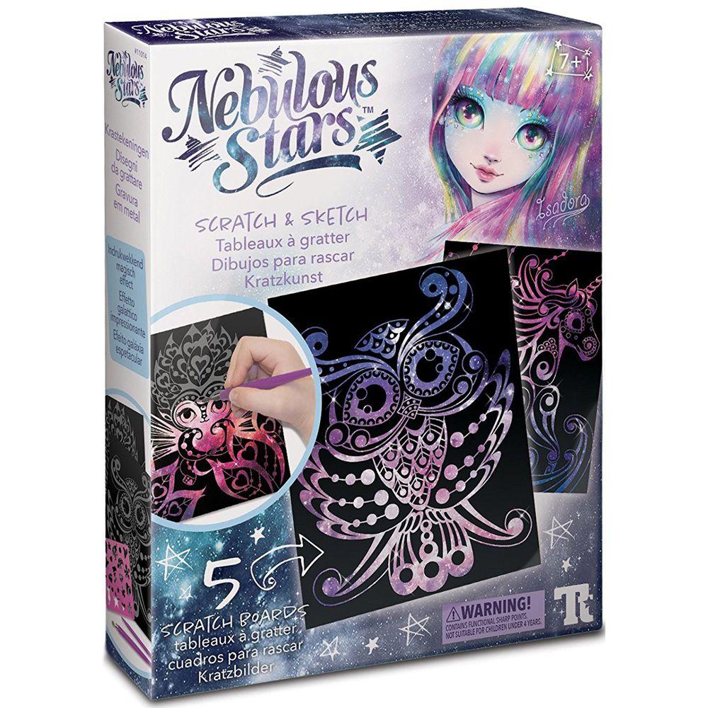 Scratch and Sketch Cards - Nebulous Stars