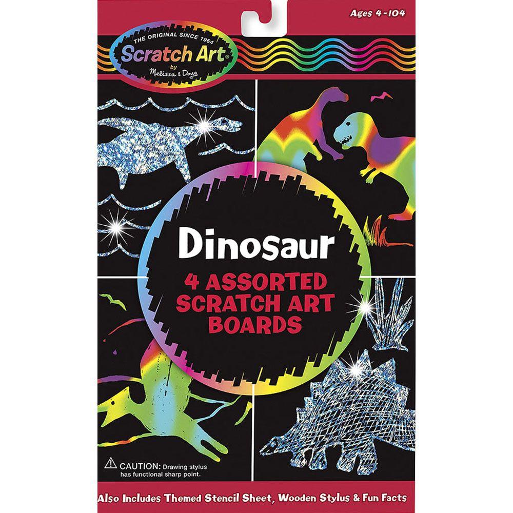 Dinosaur Scratch Art