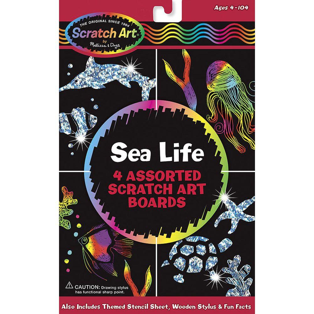Scratch Art Sparkling Sea Life