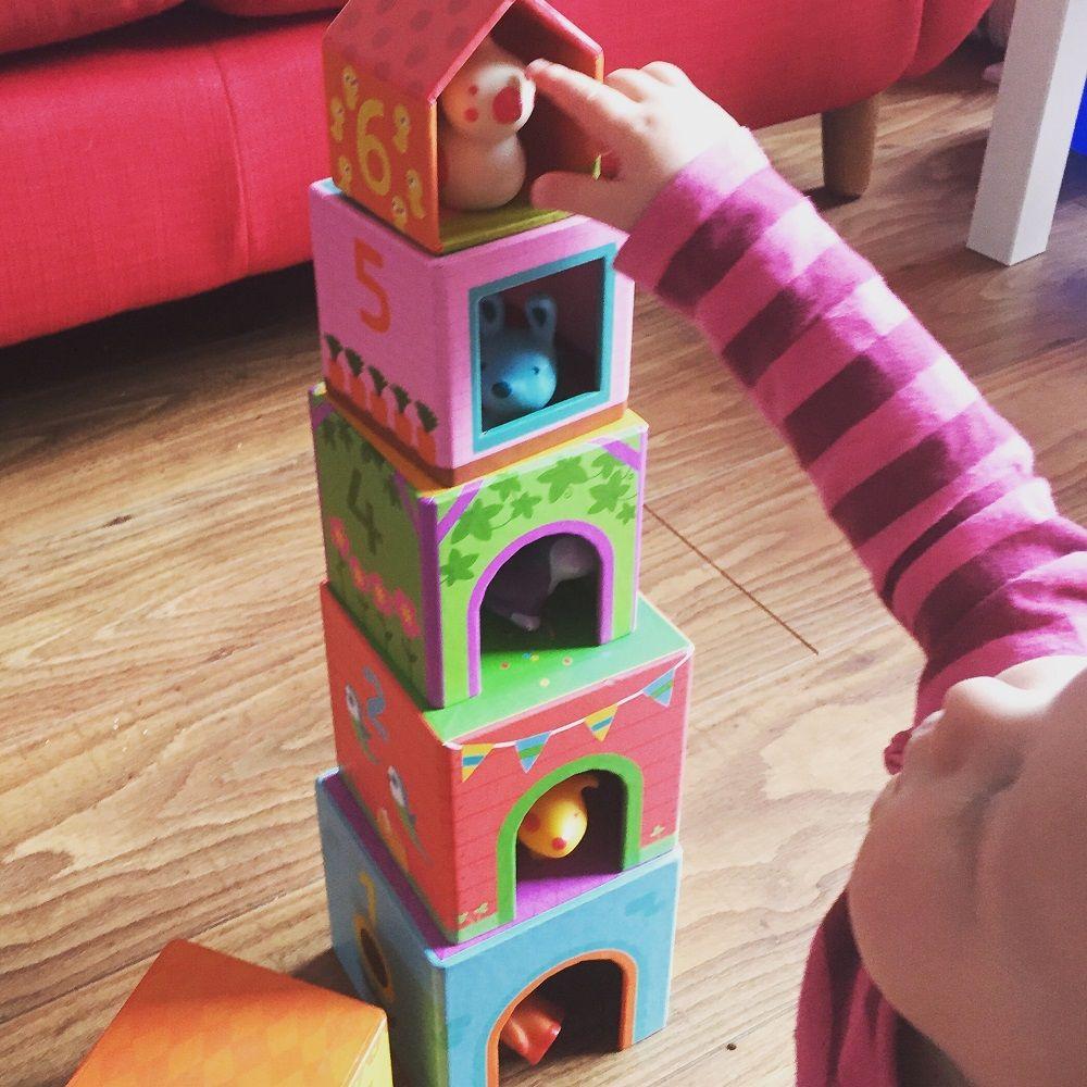 Djeco Topanifarm Stacking Cubes Toys