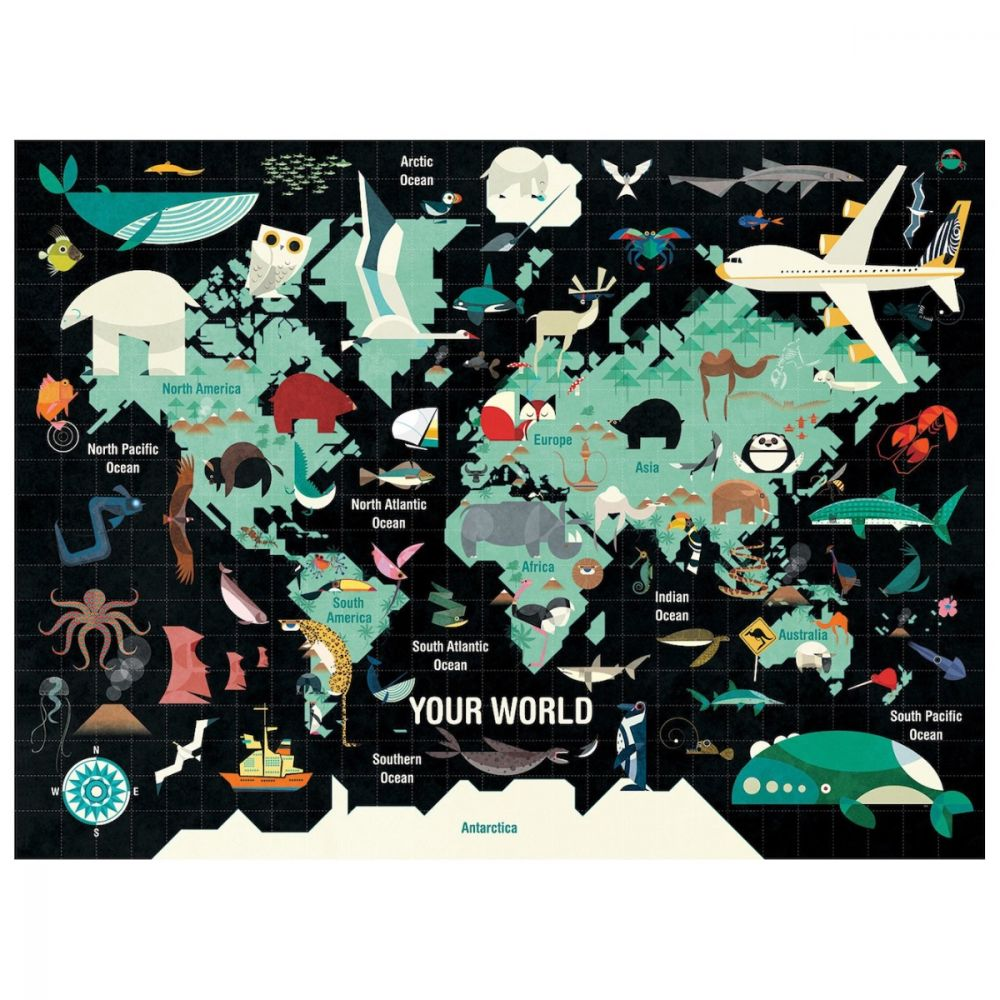 Mudpuppy Your World 1000 Piece Jigsaw Puzzle