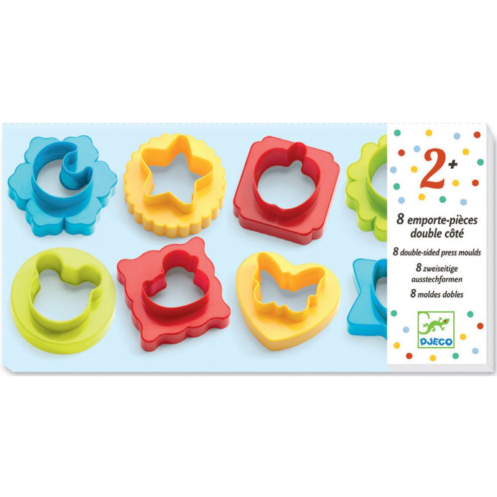 8 Double Sided Dough Cutters - Djeco