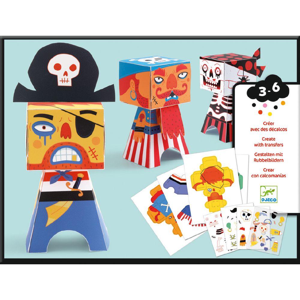 Djeco Paper Toys Pirate Transfers