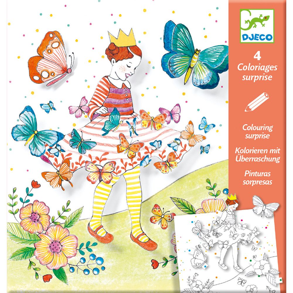 Djeco Colouring Surprises Lady Butterfly