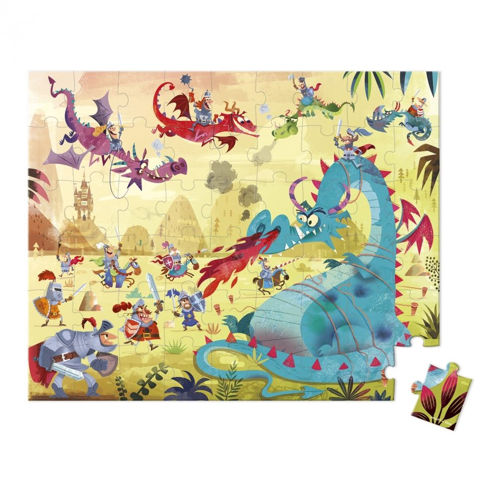 Janod Hat Boxed Jigsaw Puzzle - Dragons