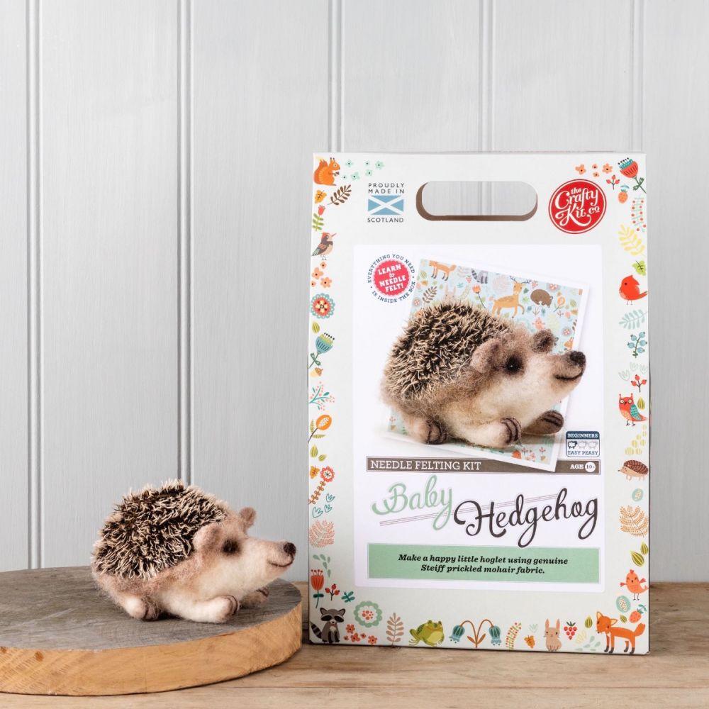 The Crafty Kit Co, Needle Felting Kit - Baby Hedgehog