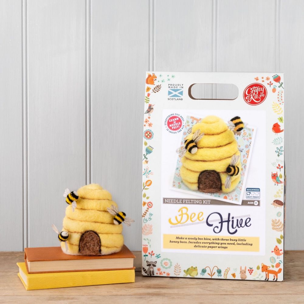The Crafty Kit Co, Needle Felting Kit - Bee Hive