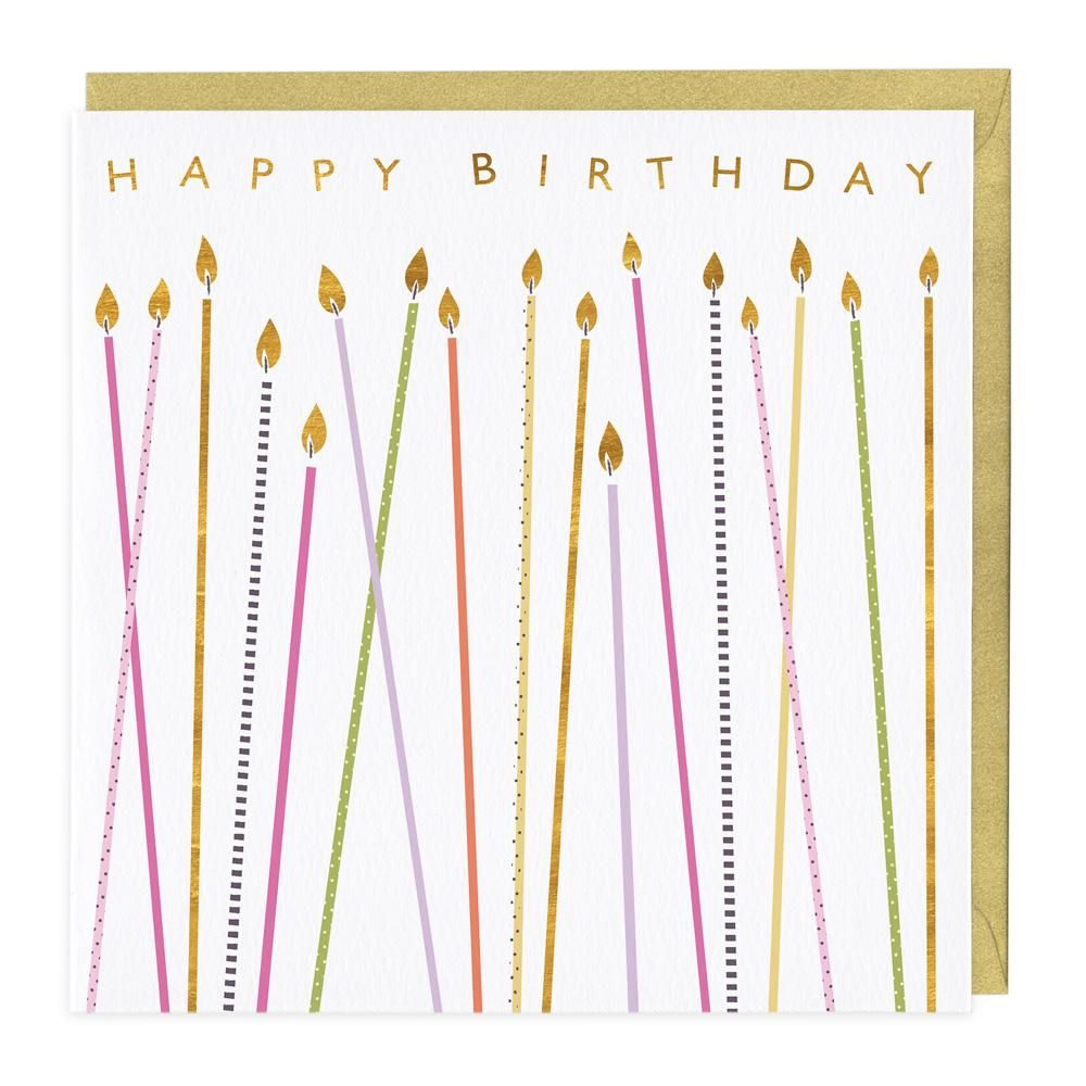 Happy Birthday Card - Tall Candles