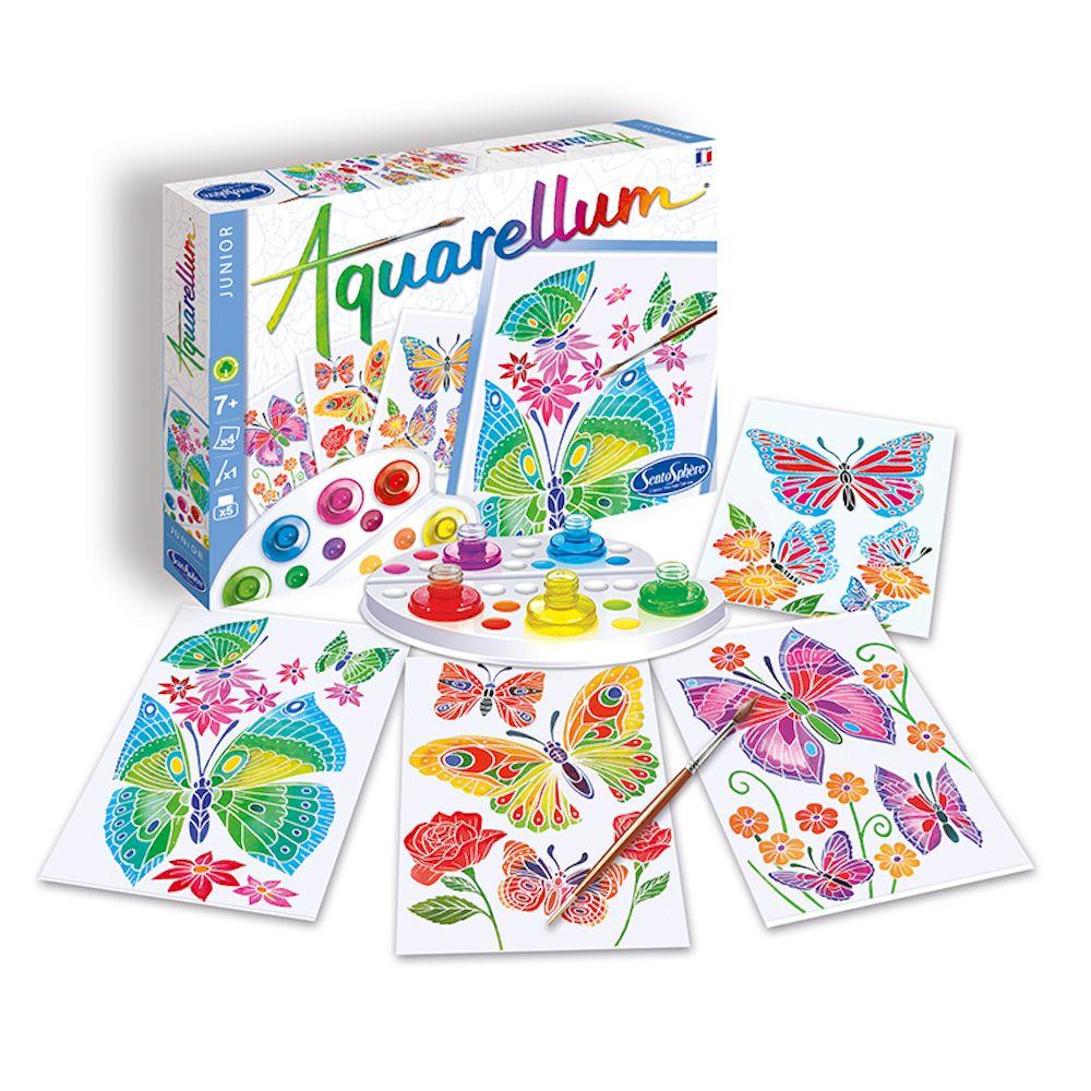 Aquarellum Junior Butterflies and Flowers