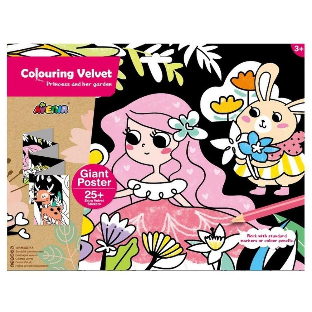 Avenir Colouring Velvet Princess & Her Garden