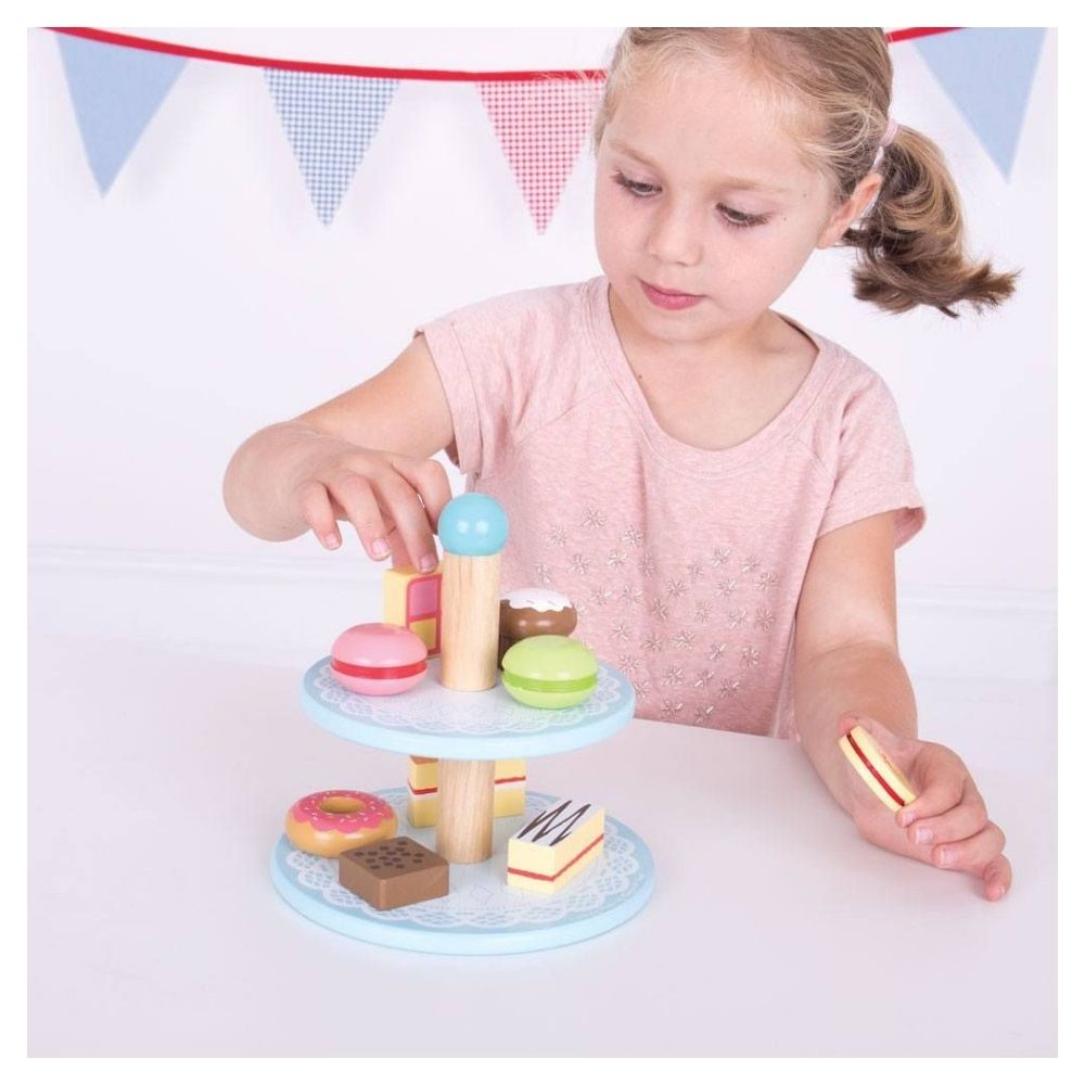 Bigjigs Wooden Cakes with Stand