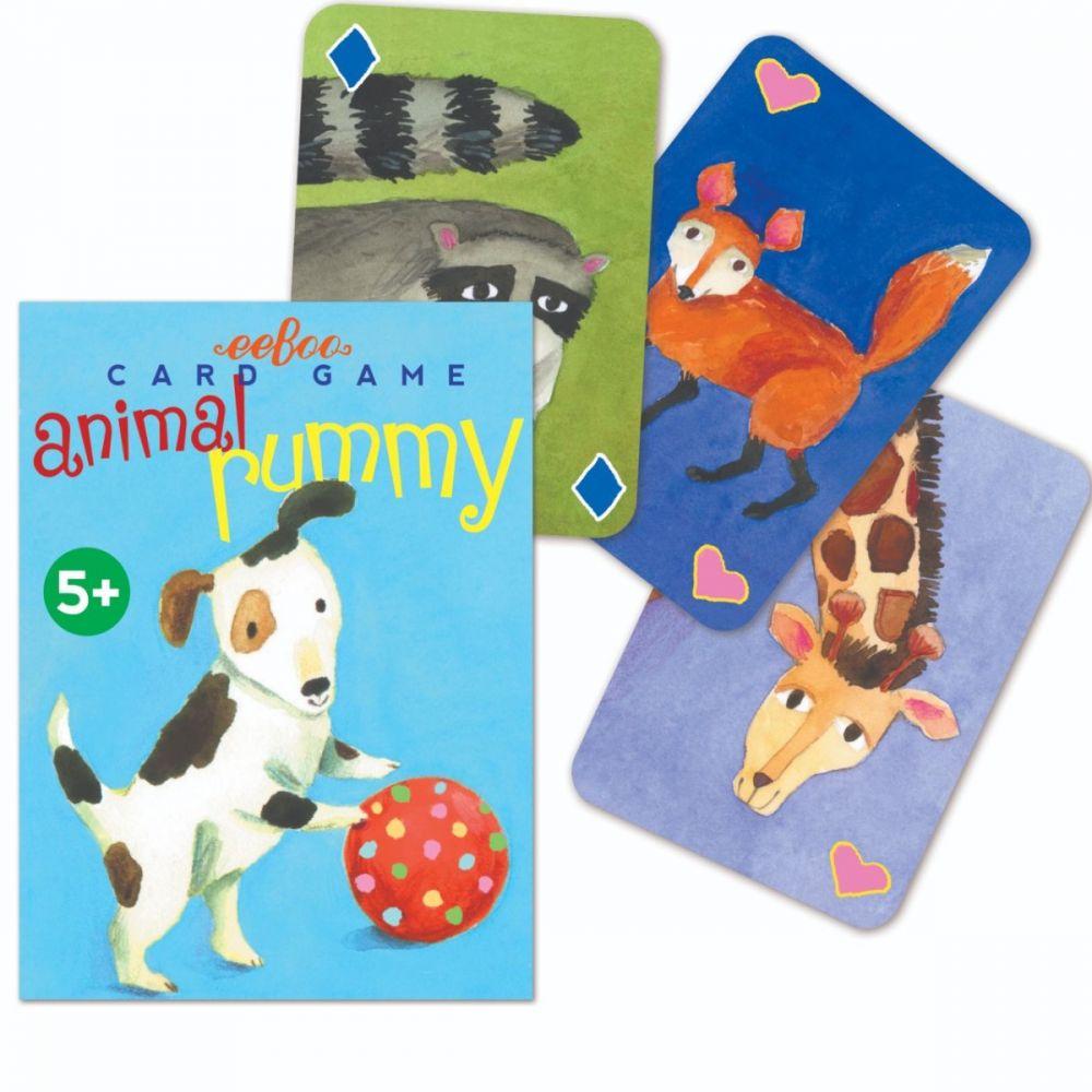 Eeboo Animal Rummy Card Game