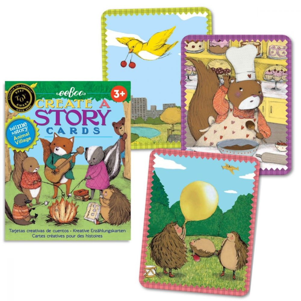Eeboo Create A Story Cards - Animal Village