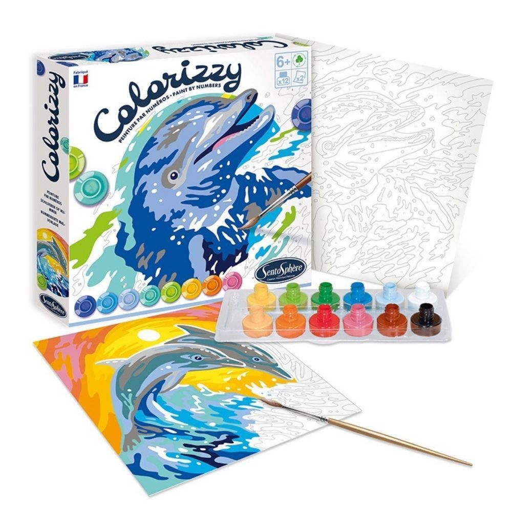 Colorizzy Paint By Numbers Dolphins - Douphins 4509