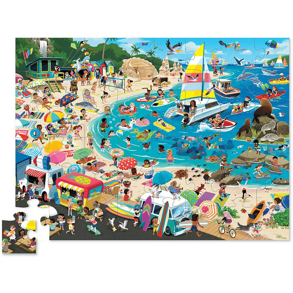 Crocodile Creek 48 Piece Puzzle - Day at the Beach