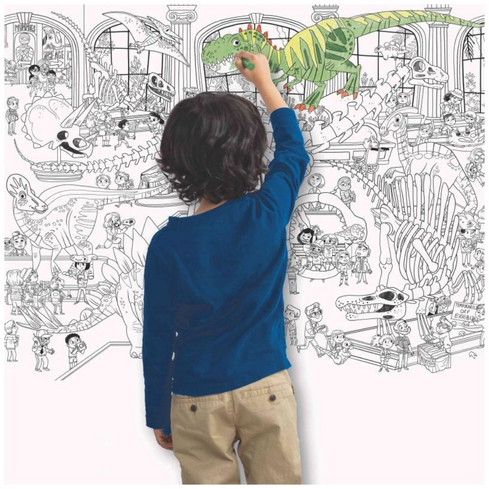 Crocodile Creek Giant Coloring Poster - Day At The MuseumDinosaurs