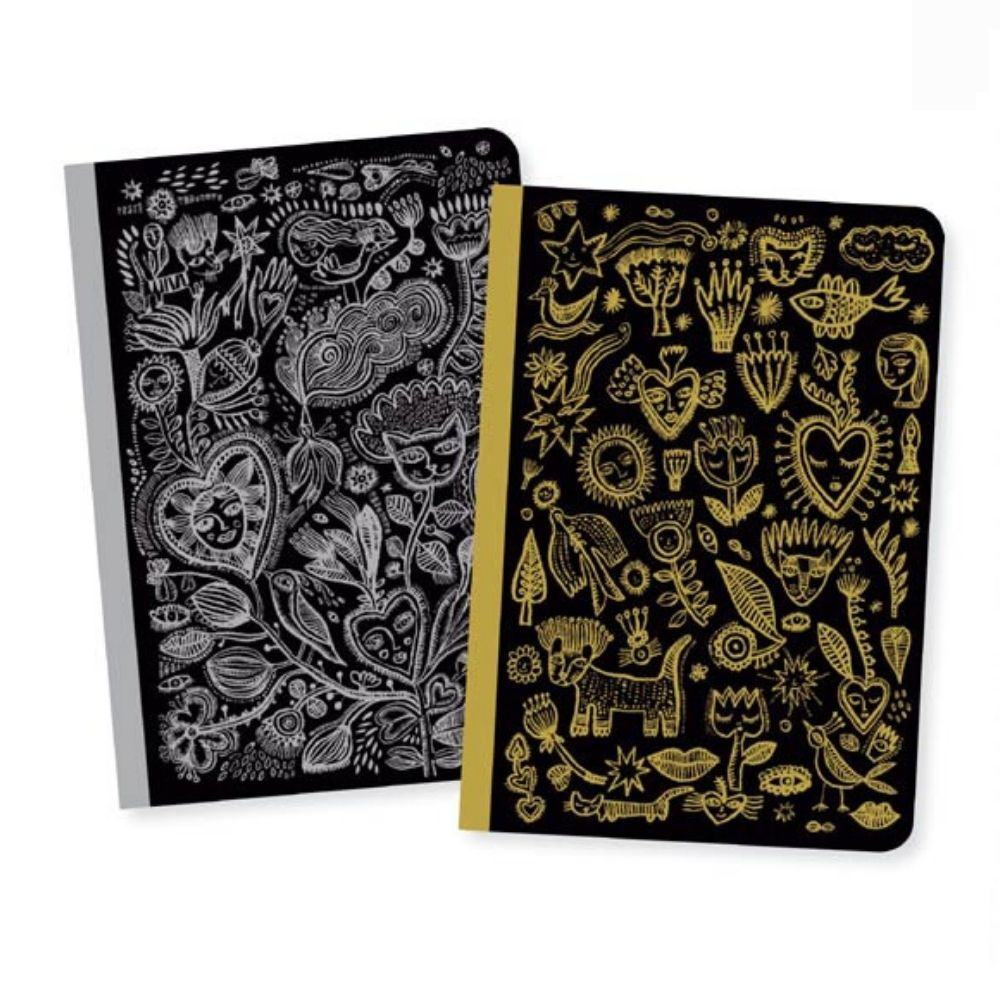 Chic Aurelia Small Notebooks - Djeco Lovely Paper