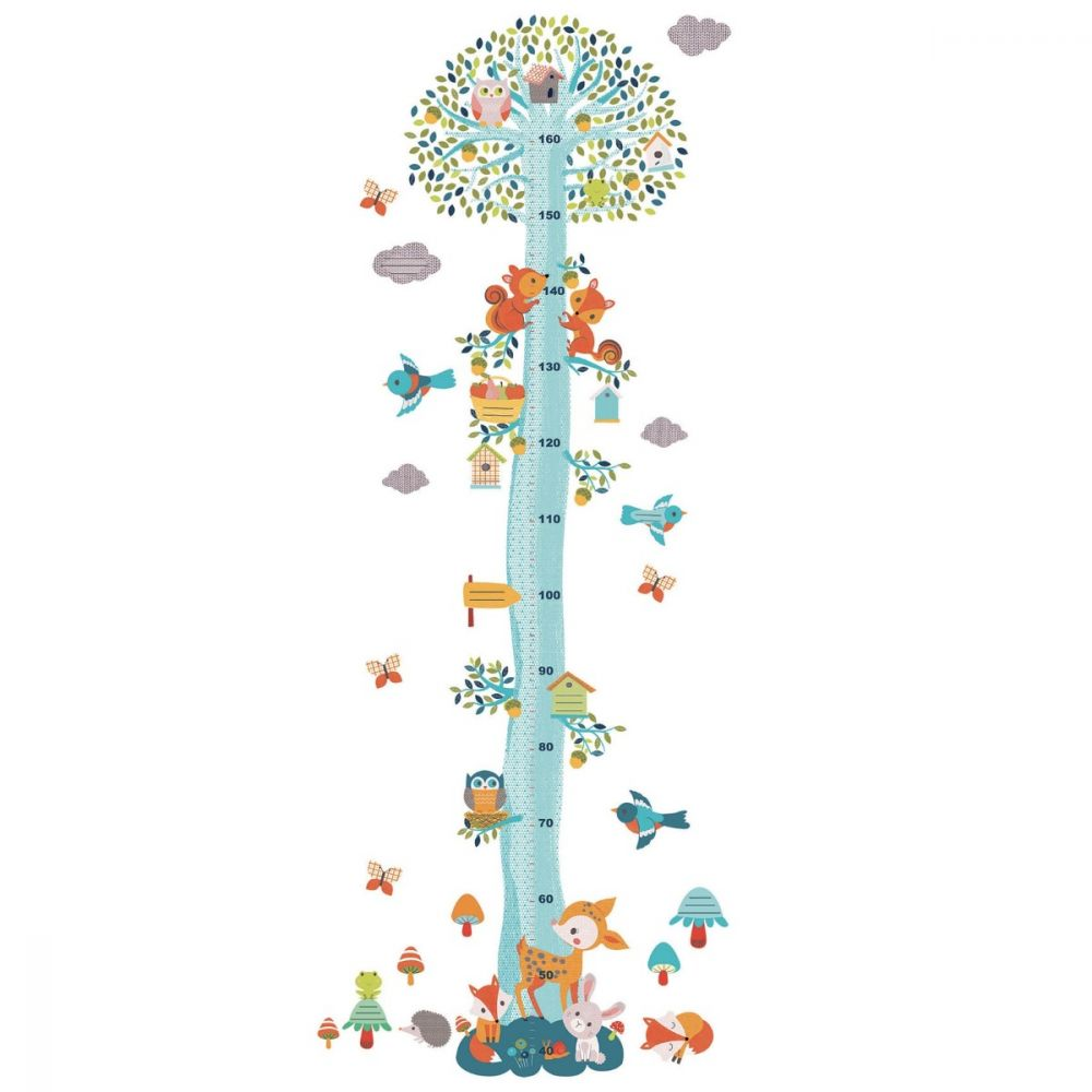 Djeco Little Big Room - Woodland Friends Height Chart