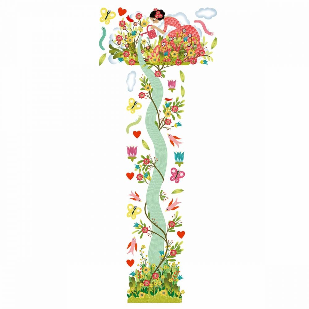 Djeco Little Big Room - Girl In a Garden Height Chart