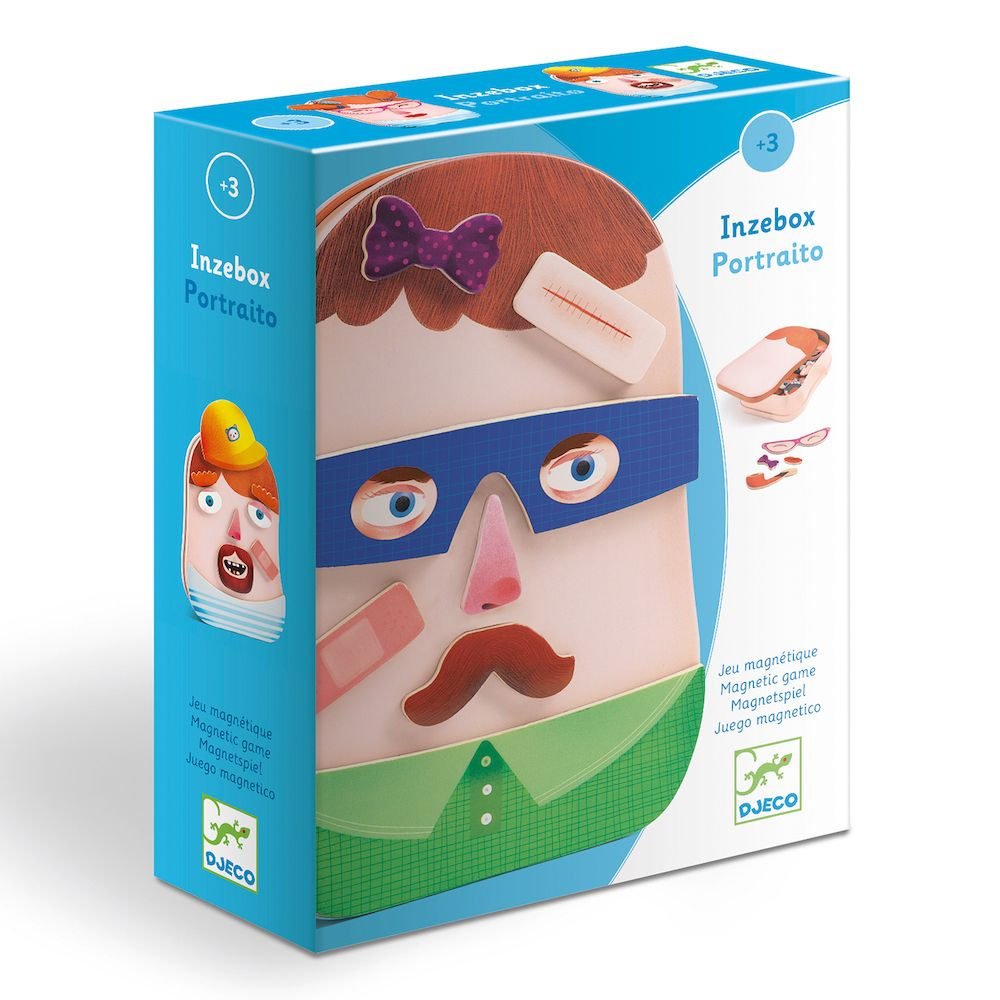 Wooden Funny Faces Magnetics - InZeBox Portraito by Djeco
