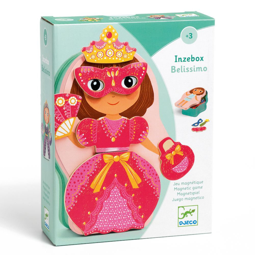 Wooden Princess & Fairies Magnetics - InZeBox Bellissimo by Djeco