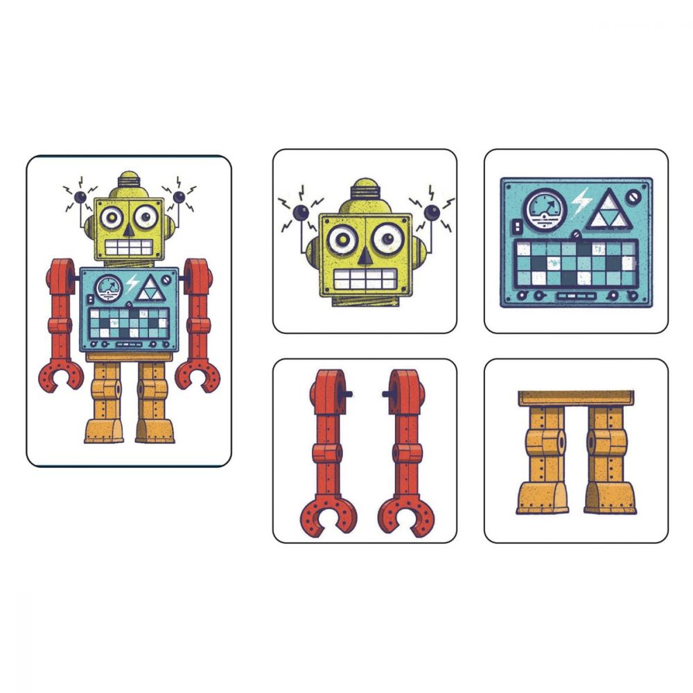 Djeco Playing Cards - Memo Robots