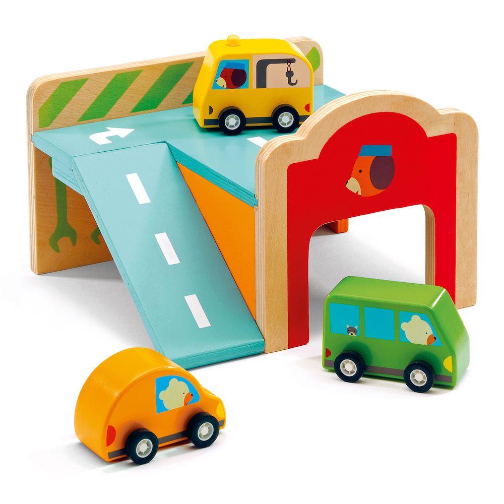 Djeco Wooden Mini Garage
