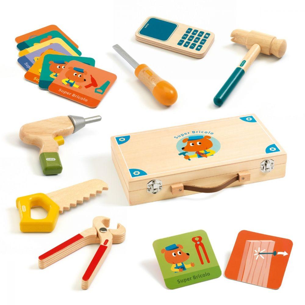 Super Bricolo Wooden Tool Box by Djeco