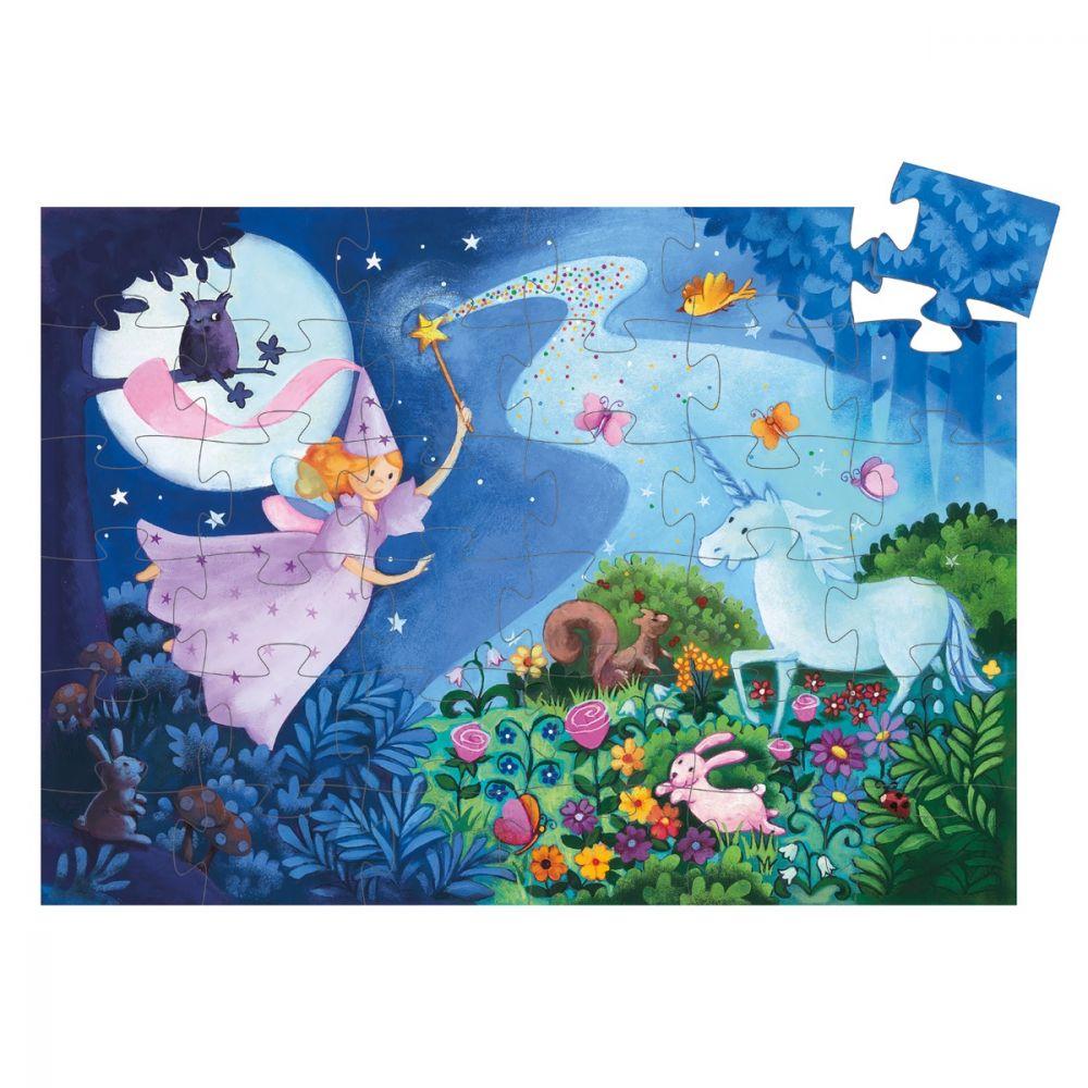 Djeco Puzzle Fairy & Unicorn