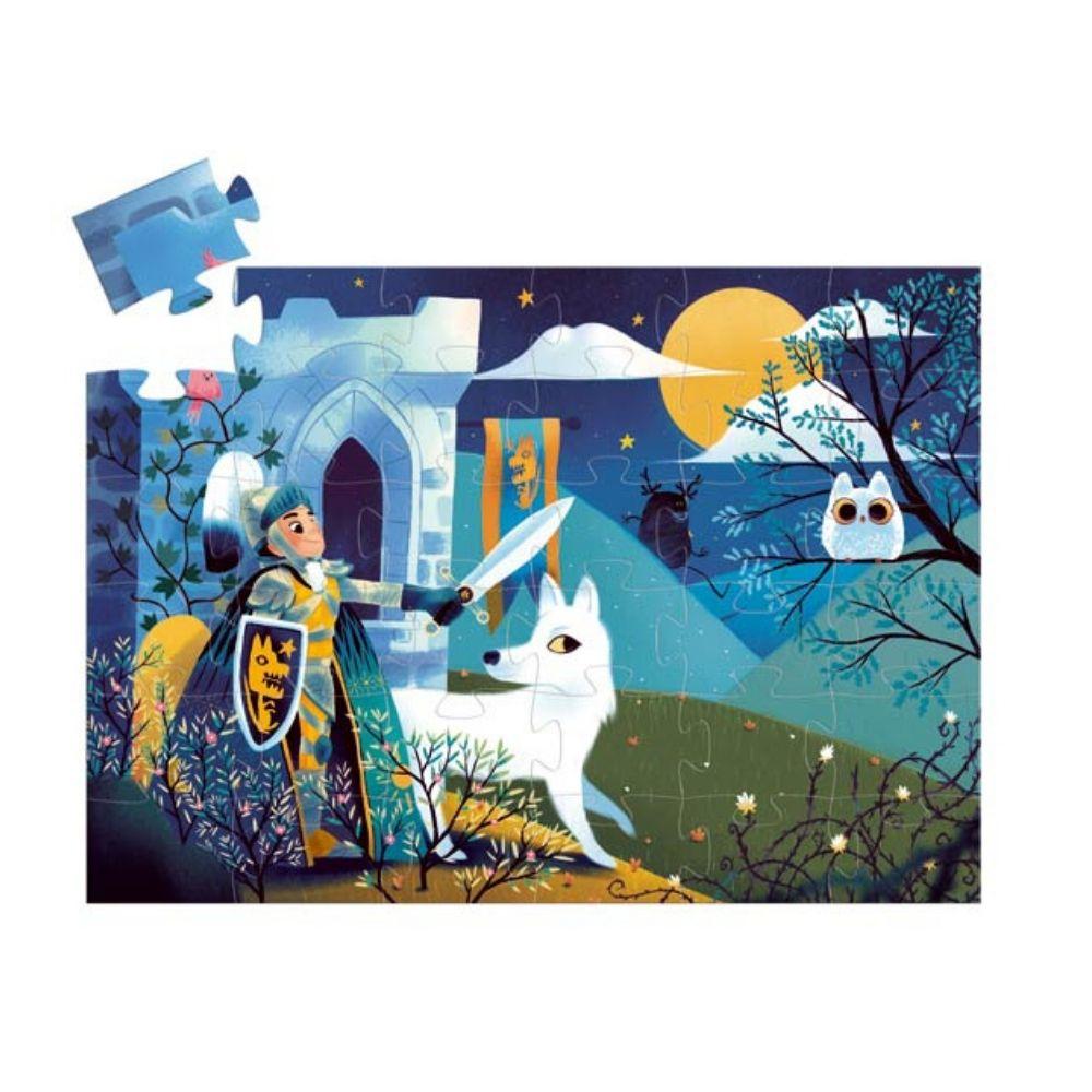 Djeco Silhouette Puzzle Full Moon Knight