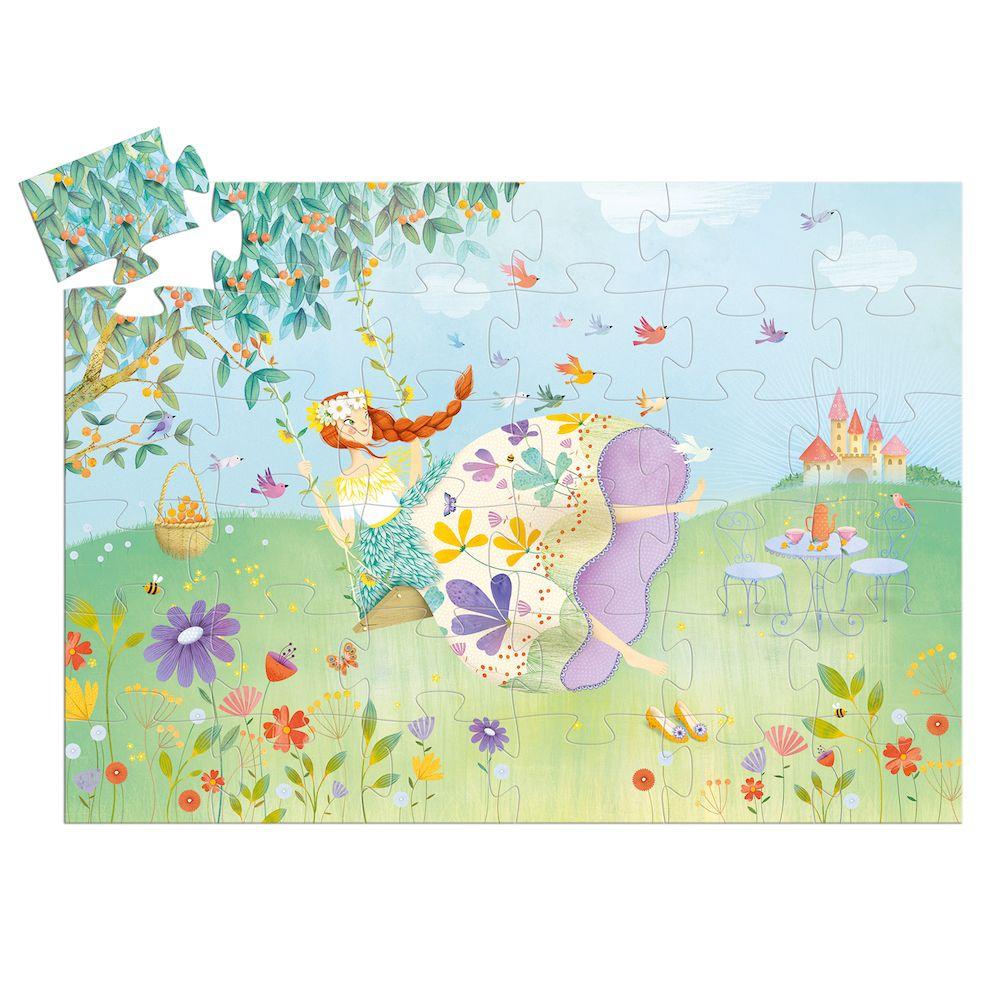 Djeco Silhouette Puzzle Princess of Spring