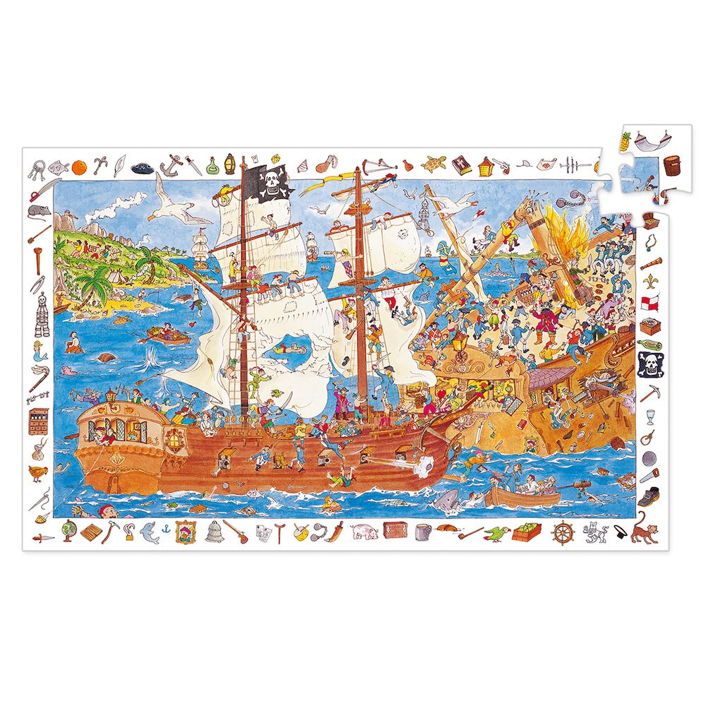 Djeco Pirates Observation Jigsaw Puzzle FSC Mix