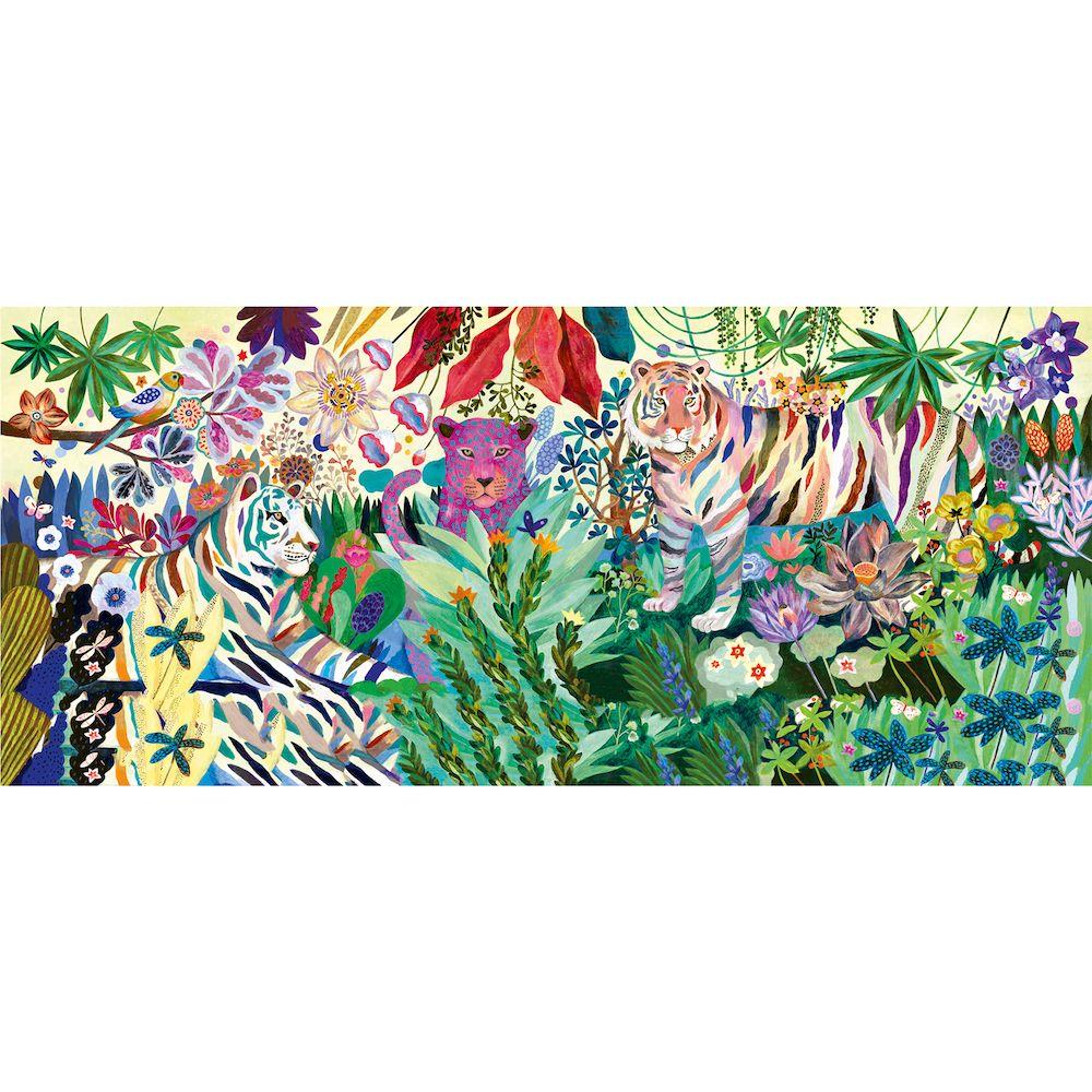 Djeco Gallery Puzzle Rainbow Tigers